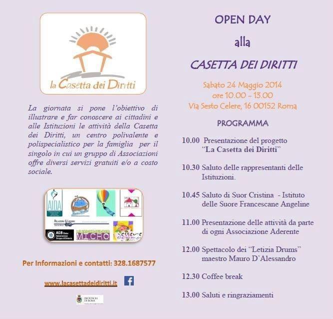 Open Day alla Casetta dei Diritti