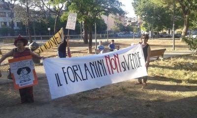 Manifestazione per il Forlanini
