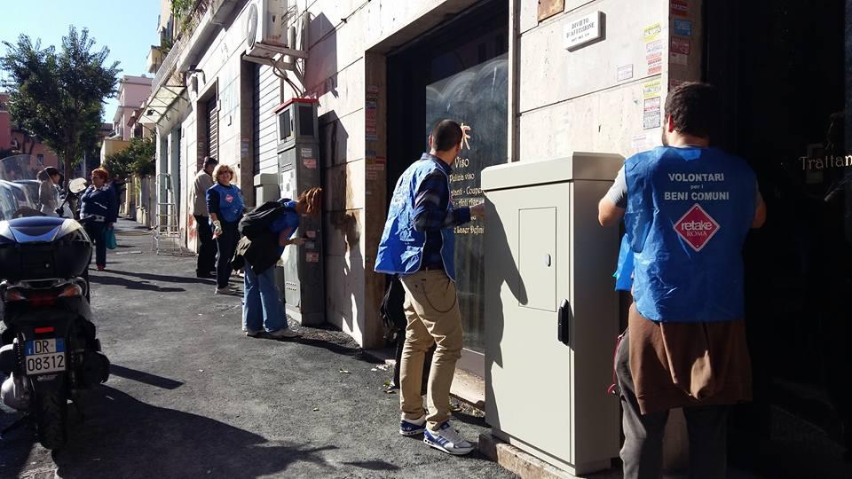 Sabato 8 ottobre pulizia di Via Balestra con Retake Portuense/Monteverde