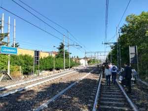 Pendolari a piedi a Legnano