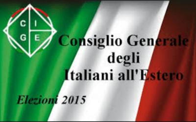 Elezioni 2015 del C.G.I.E. Elezione del membro territoriale.