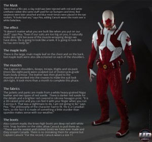 Captain Canuck real-life costume