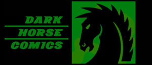 Dark Horse Comics logo green background