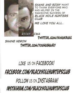 BLACK HOLE HUNTERS CLUB #1 creators