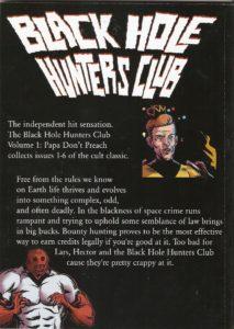 BLACK HOLE HUNTERS CLUB vol. 1 TP back cover