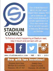 Stadium Comics ad