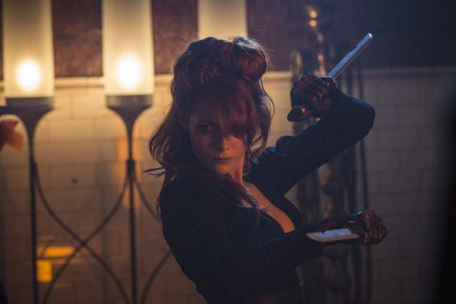 Emily Beecham as The Widow - Into the Badlands _ Season 1, Epsiode 2 - Photo Credit: James Dimmock/AMC