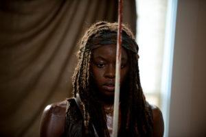 Danai Gurira as Michonne - The Walking Dead _ Season 6, Episode 8 - Photo Credit: Gene Page/AMC