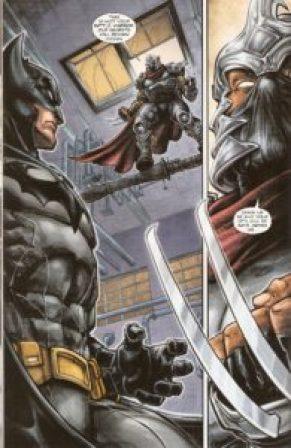 BATMAN • TNMT #1 Batman meets Shredder