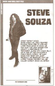 Exodus member 1 - Steve Souza