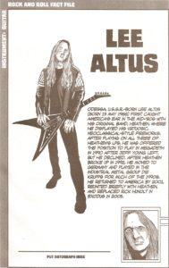 Exodus member 4 - Lee Altus