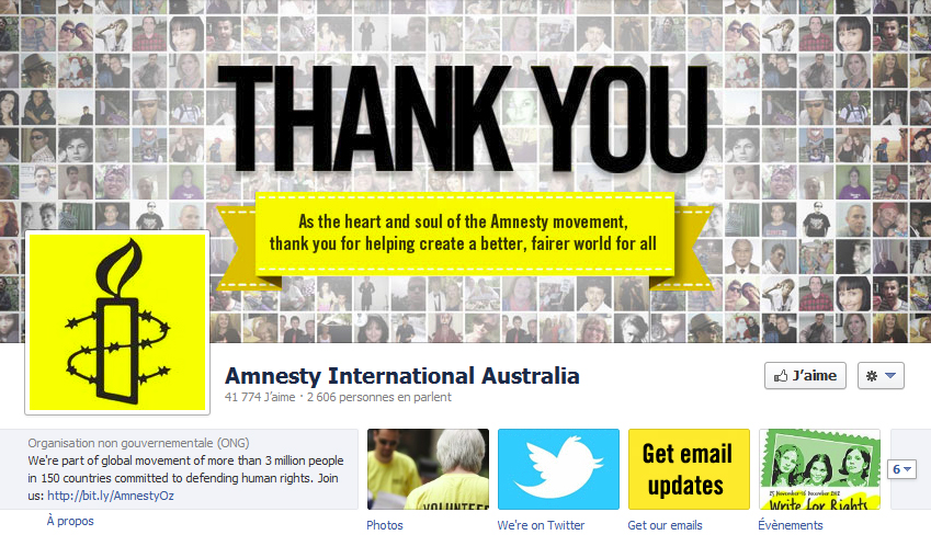 couverture facebook Amnesty International
