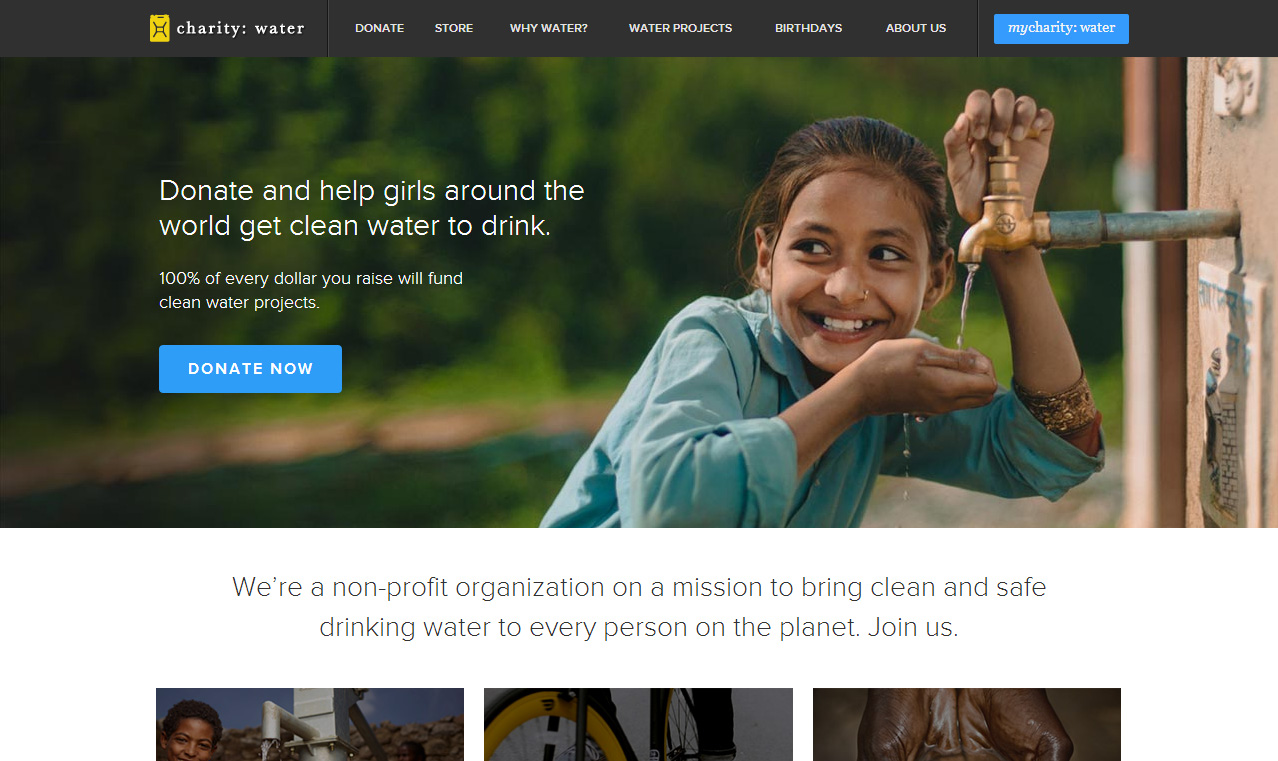 charity water site web