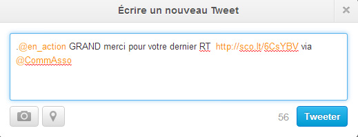 Exemple comm asso twitter