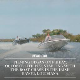 Le tournage a commendé le vendredi 13octobre 1972 avec la course poursuite dans la bayou irlandais en Lousiane
