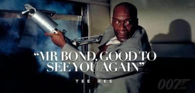 Mr Bond, heureux de vous revoir.
