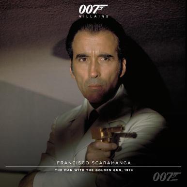 Francisco Scaramanga (Christopher Lee) - L'homme au pistolet d'or - 1974