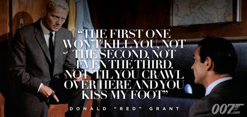 La première ne vous tuera pas, ni la seconde, pas même la troisième.pas avant que vous rampiez par terre en embrassant mes chaussures !