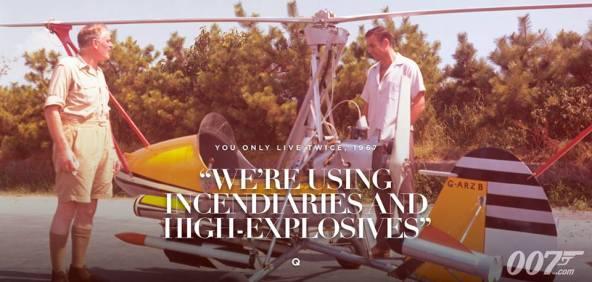 Vous avez ici les missiles incendiaires, et explosifs - Q - On ne vit que deux fois