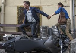 Pierce Brosnan & Olga Kurylenko.(Photo: Aleksandar Letic, Relativity Media)