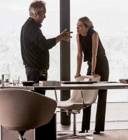 Sam Mendès et Léa Seydoux sur le tournage