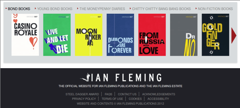 Le site de Ian Fleming Publications