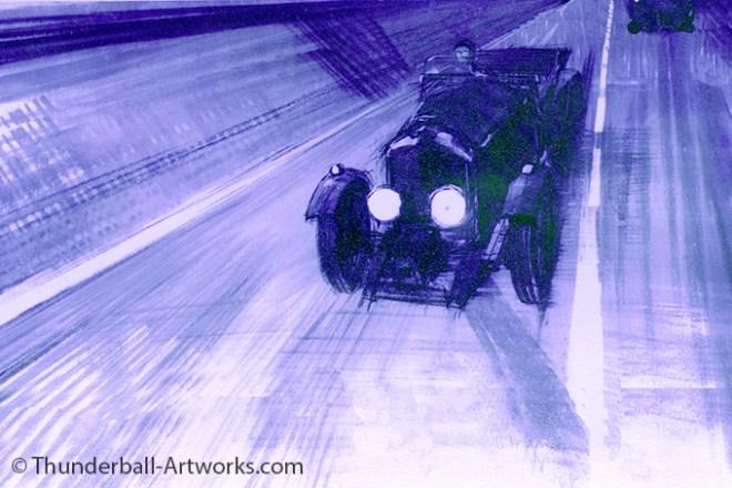 Thunderball original work Car Blue