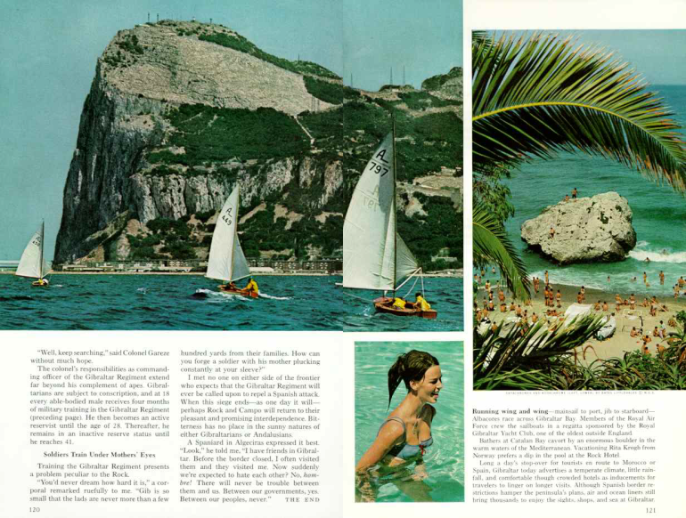 National Geographic, juillet 1966 - page 120 et 121.