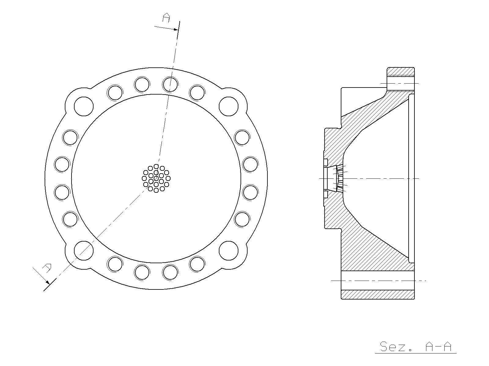 Accumulator Lower Half Krupp Hm 960 Hydraulic Hammer Spare Parts