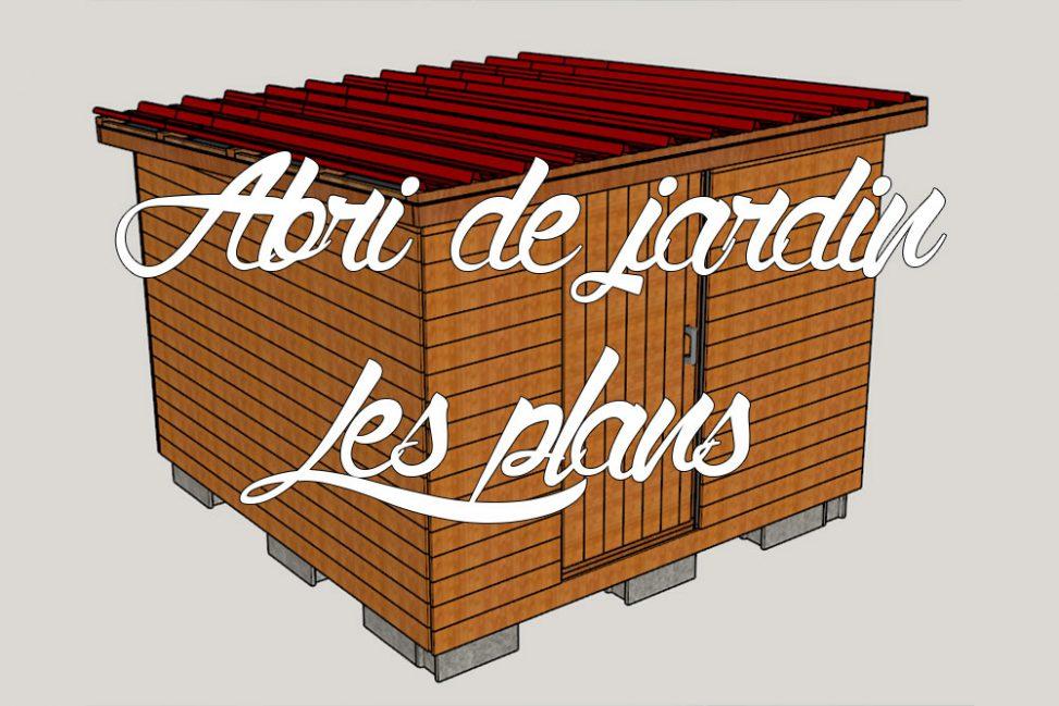 abri de jardin en bois nos plans 3d