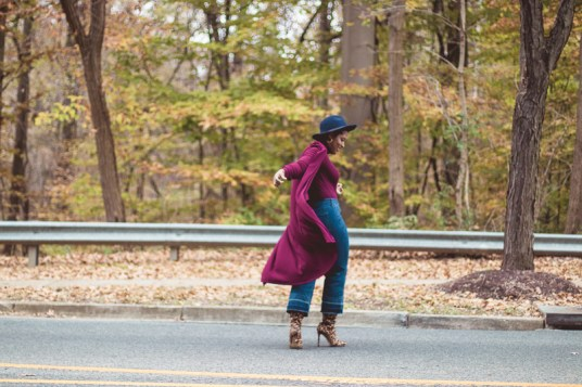Top DC curvy style blog wearing fall trends leopard-16