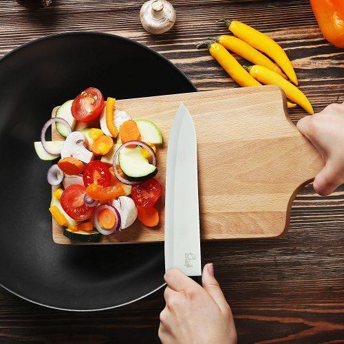 Couteau céramique ChefsDeFrance (Set Complet 4 Couteaux + économe)