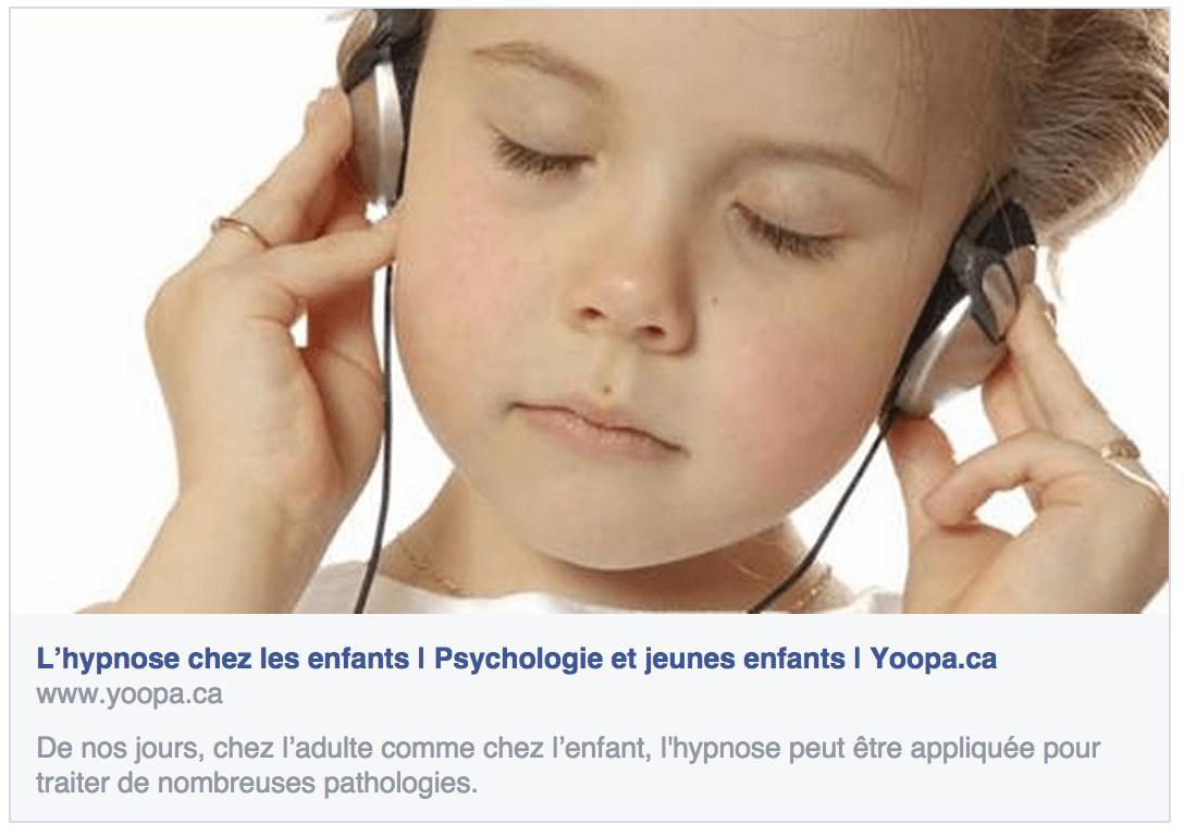Hypnose et enfants