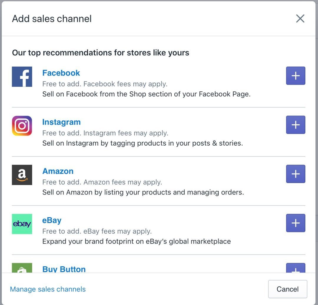 Sales Channel in Shopify