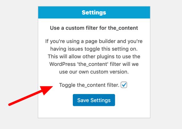 Custom tab plugin settings