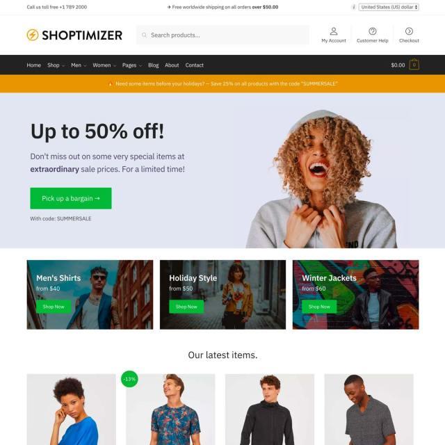 Shoptimizer for WooCommerce Screenshot