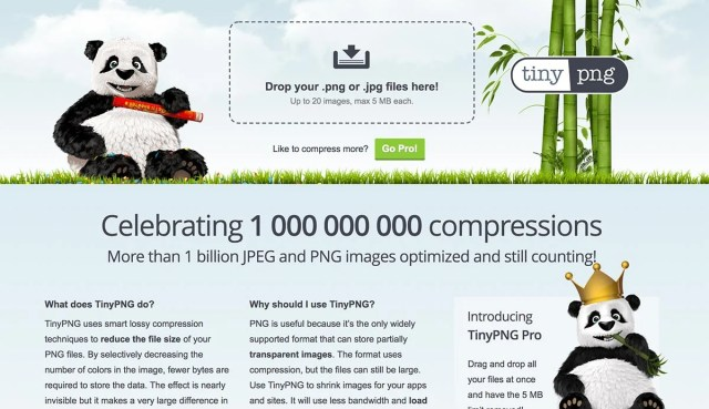 TinyPNG will batch optimize images for you in one go, significantly reducing their size