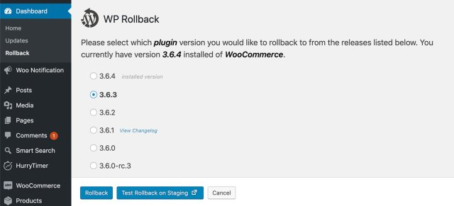 The WP Rollback Plugin