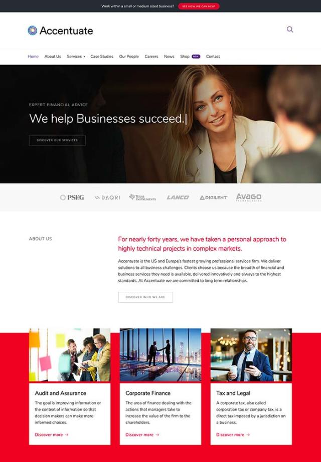 Accentuate Homepage