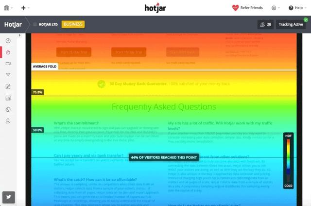 Using Hotjar to track user behavior