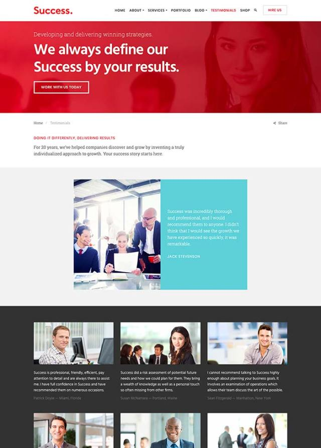 Success testimonials