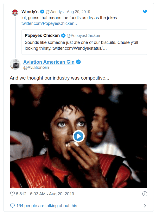 Aviation American Gin tweet