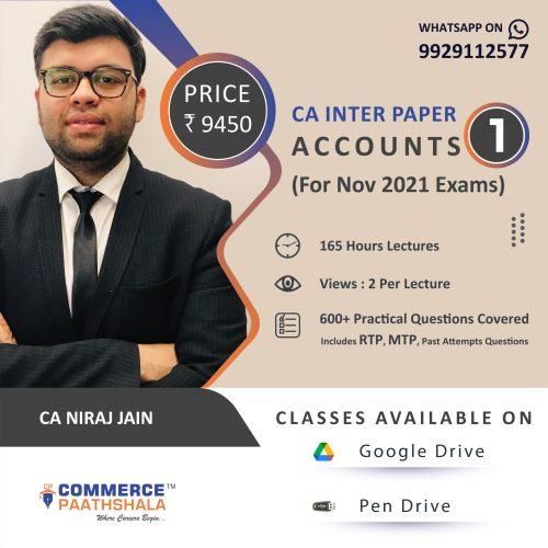 CA Intermediate Accounts Paper 1