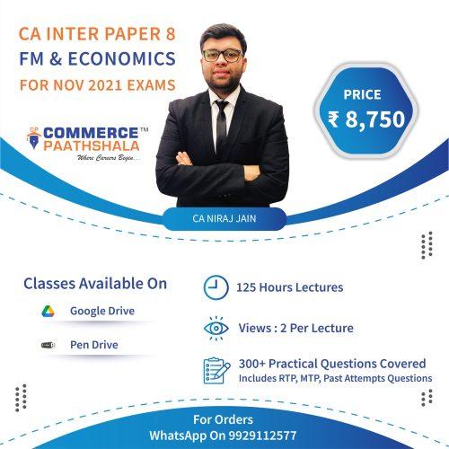 CA Intermediate Paper 8 FM and Economics