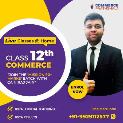 Class 12th Commerce - Live Classes @ Home