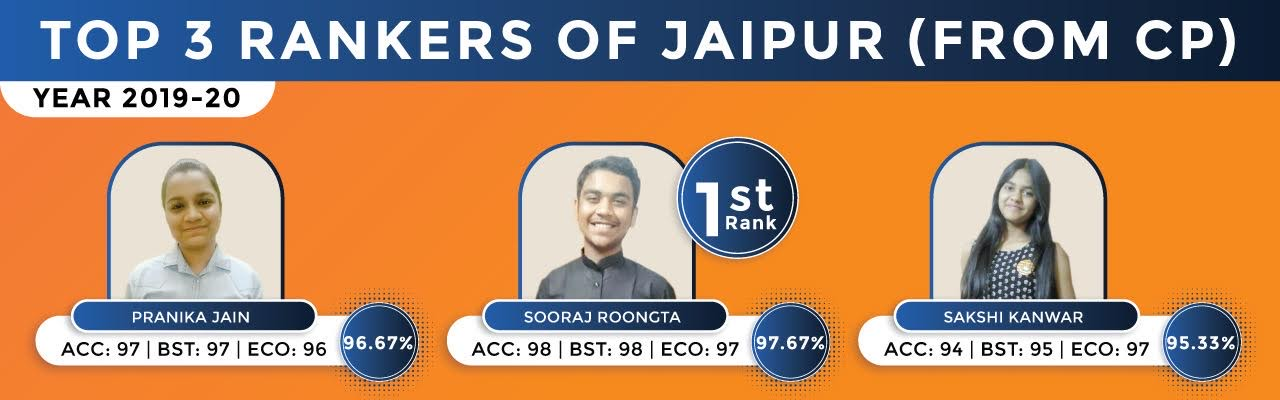 12th Commerce Top 3 Rankers of Jaipur Result 2019-20