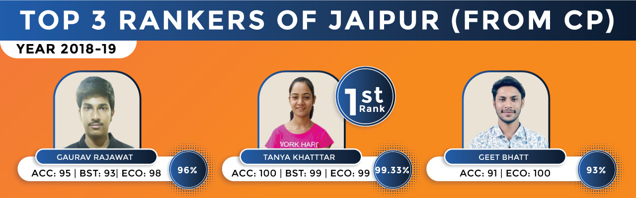 Class 12th Commerce Top 3 Rankers of Jaipur Results 2018-19