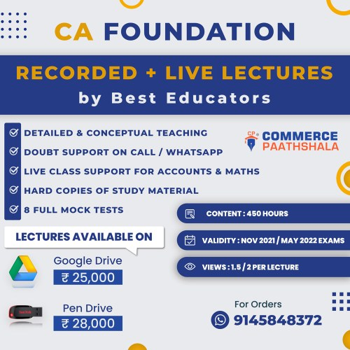 CA Foundation Combo Classes 4 Papers
