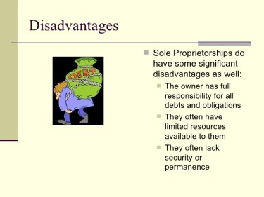 disadvantages of sole proprietorship
