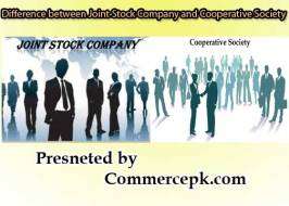 Difference between Joint Stock Company and Cooperative Society
